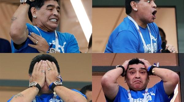 """不给力的阿根廷,生生把马拉多纳逼成了""""表情包"""""""