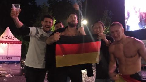 在柏林,看德国队绝杀