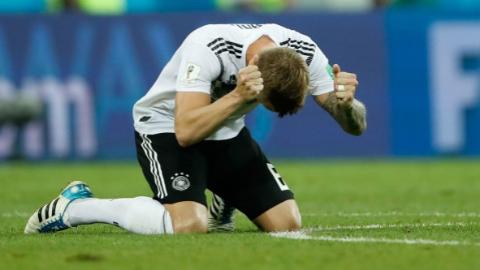 喜悦与泪水交织 世界杯补时阶段进球者心情大不同