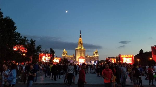 一位莫斯科大学中国留学生的世界杯之夏:校园里的球迷广场起初并不受欢迎