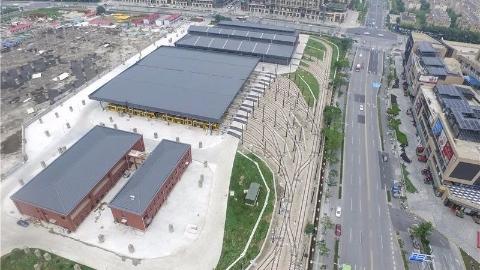 松江有轨电车T2线大学城停车场本月底竣工