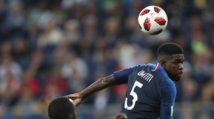 乌姆蒂蒂头球立功,法国足球的希望怎么总寄托在后卫身上?