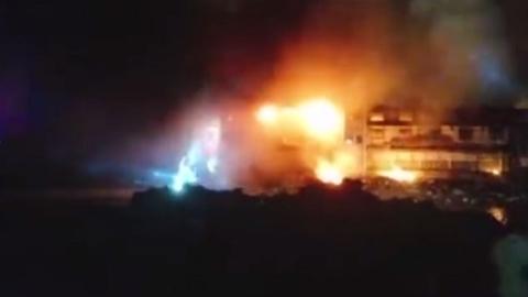 """浦东芦潮港""""海鲜一条街""""昨晚突发火灾 所幸无人伤亡"""