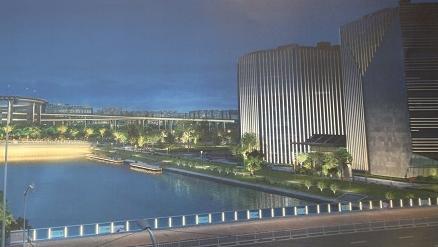 七彩聚虹 梦想筑桥 进口博览会周边灯光工程启动实施