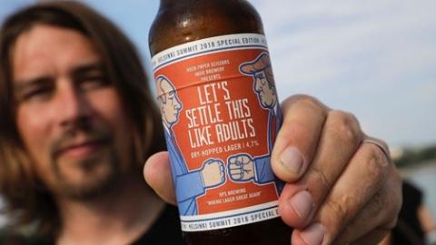 """普特会还没开:芬兰一啤酒厂借机""""揩油"""",报道记者可享受""""芬兰浴"""""""