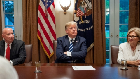 """对通俄门表态引发全美""""叛国""""批评声 特朗普紧急灭火""""我口误了"""""""