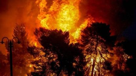 希腊雅典突发大火,上千居民大撤离