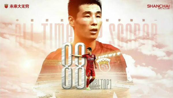 88球追平中超历史射手王 武磊已成最佳