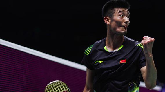 羽毛球世锦赛男单八强战 谌龙横扫安赛龙 与石宇奇会师半决赛