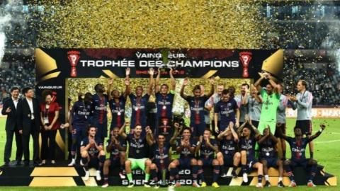 法国超级杯大巴黎4比0横扫摩纳哥 赢得六连冠
