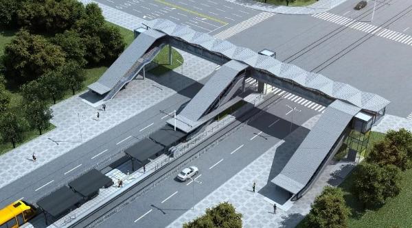 零距离换乘地铁公交,松江有轨电车示范线设4座天桥