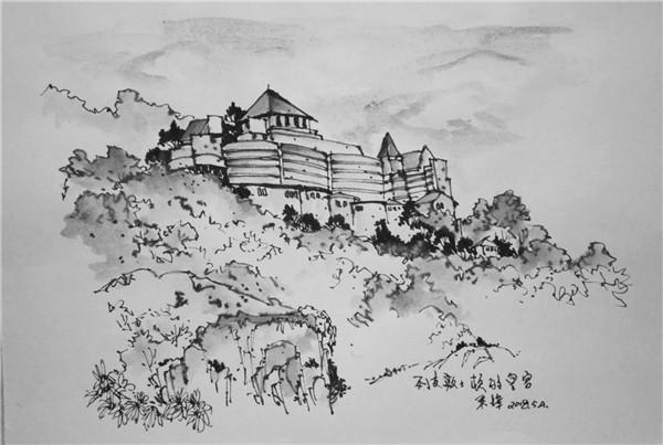 钢笔画世界 | 列支敦士登国皇宫