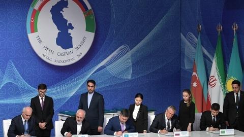 里海沿岸国家首脑峰会 五国签署里海法律地位公约
