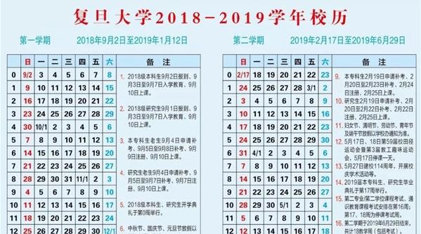 """假期余额不足,沪25所高校""""2018-19学年校历""""让你了解寒暑假、学期安排"""