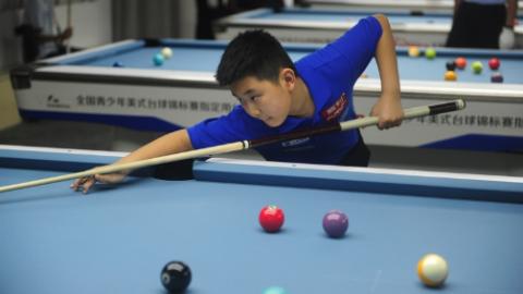 2018美式全青赛再战上实国际 近百名台球少年申城对决