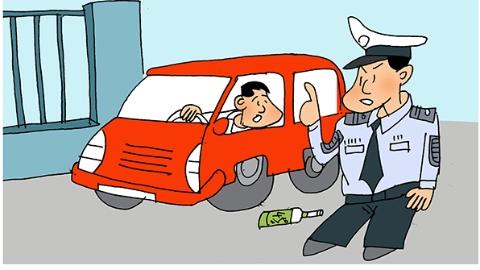 一男子为逃避酒驾检查撞伤交警被刑拘 谁知血检酒精含量竟为零