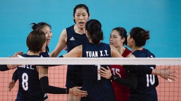 拦网给力 中国女排轻松迎来亚运小组赛二连胜