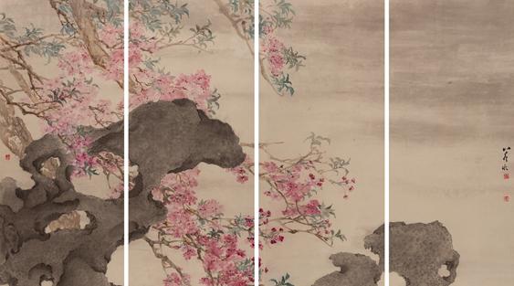 赏樱如看慢镜头,上海90后画坛新秀包若冰首次个展亮相朵云轩