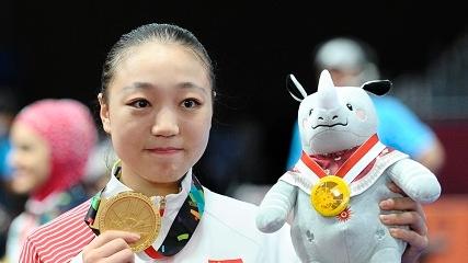 上海海事大学女生获亚运会武术冠军 梦想将中华传统发扬光大