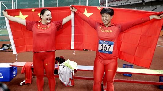 """中国包揽女子链球冠亚军 """"捡""""来金牌?实力使然!"""