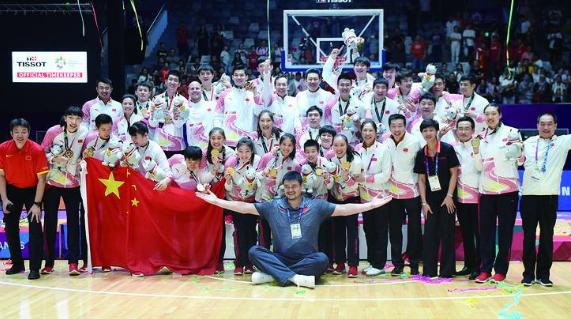中国篮球亚运会包揽四金 姚主席改革收成效