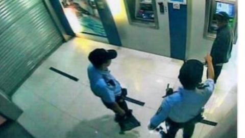 胆子太大!男子竟用电钻撬ATM机出钞口 被民警当场抓获