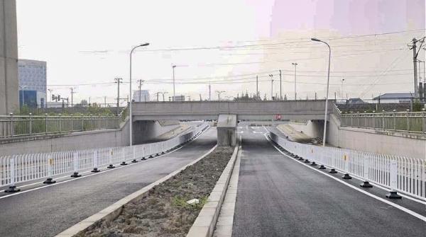 华扩路下穿铁路工程月中竣工通车,松江新添重要通道