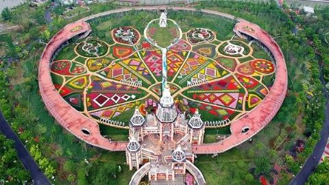 喜欢拍花花草草的看过来! 浦江郊野公园奇迹花园15日开秋季艺术花展