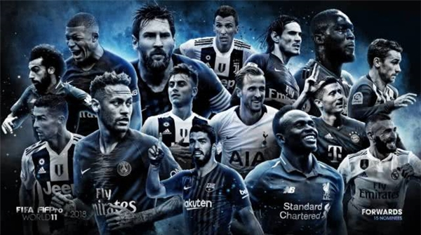 国际足联年度最佳阵容候选名单出炉,快来pick你心中的最佳人选!