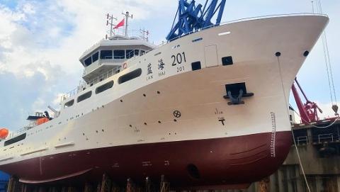 国内最大最先进渔业科学调查船在沪下水 上海船企为远洋科考又添利器