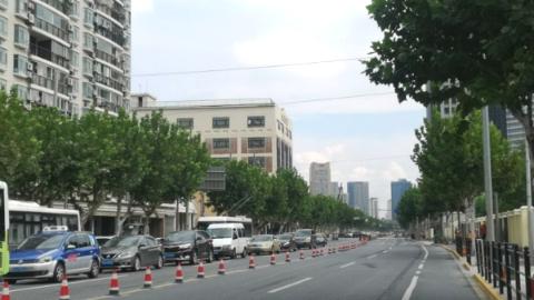 长阳路东长治路沿线1.85公里架空线入地  确保进博会保障区域市容美观