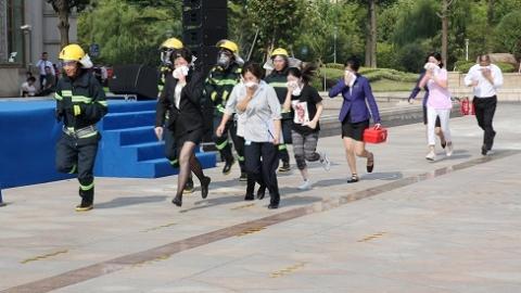 酒店起火、游客暴病如何处置  迎进博会上海旅游行业演练应对突发事件