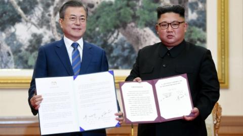"""朝鲜拆除核设施写入""""平壤宣言"""" 双方还提出共同申办2032年奥运会"""