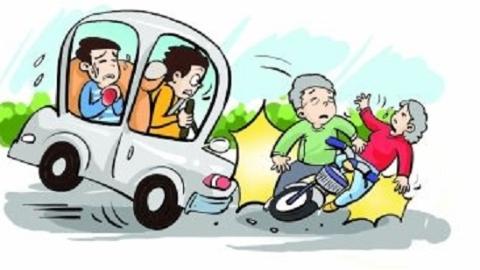 年家浜路一轿车撞击自行车 六十多岁骑车阿姨不幸身亡
