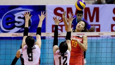 决赛横扫日本 中国女排二队夺得亚洲杯三连冠