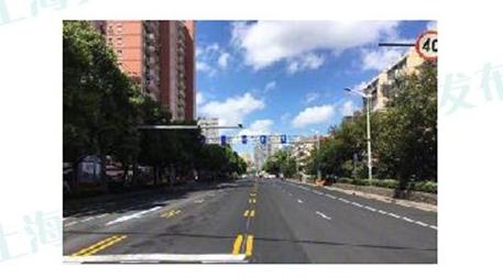殷高西路增设可变车道项目已完成