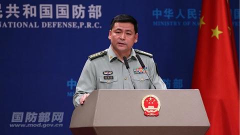 国防部:坚决反对美国无理制裁 坚决反对对台军售 坚决反对美军机南海挑衅行为