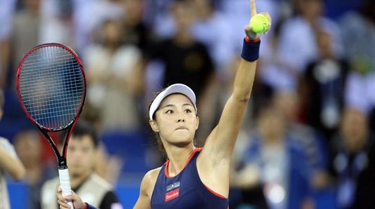 墙里墙外蔷薇花开 王蔷闯入武汉网球公开赛女单四强