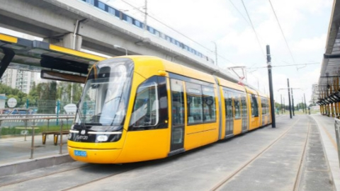 松江有轨电车一期今起不载客试运行 开通试运营预计在12月底