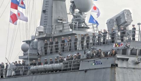 韩国海军环球训练舰艇编队上午抵沪 开启为期4天友好访问