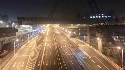 北横通道北虹路立交钢结构全线贯通  预计年底前通车