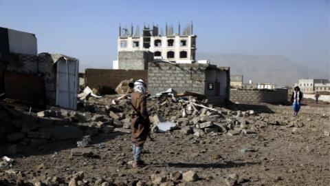 多国联军大规模空袭也门首都
