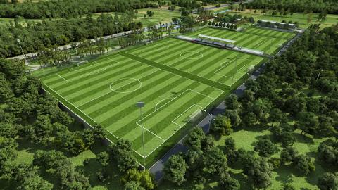 上海拓展闵行足球版图 朱广沪:提高中国足球需要更多球场