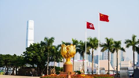 今天,五星红旗在香港金紫荆广场冉冉升起