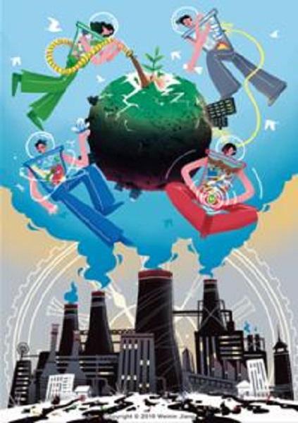 图说:《COME ON!四侠联盟》——垃圾分类四大侠共同战斗,还青山绿水于地球。.jpg