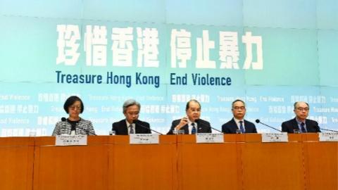 香港特区政务司司长张建宗:香港不能承受长期破坏和争拗