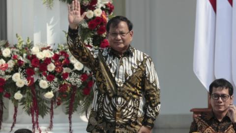 印尼总统组新内阁主要政敌出任防长