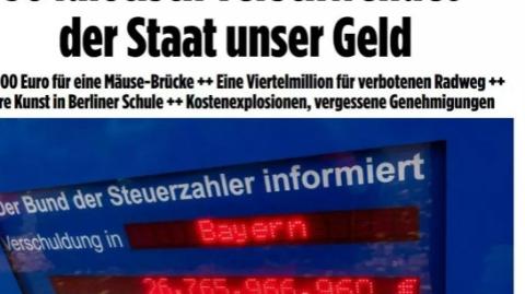 """愚蠢操作年年有! 纳税人怒斥德国政府各种""""烧钱""""罪状"""