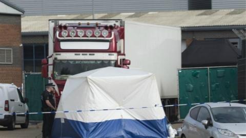 英国警方认为货车惨案遇难者均为越南人