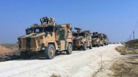 土俄军队在叙利亚北部进行首次联合巡逻